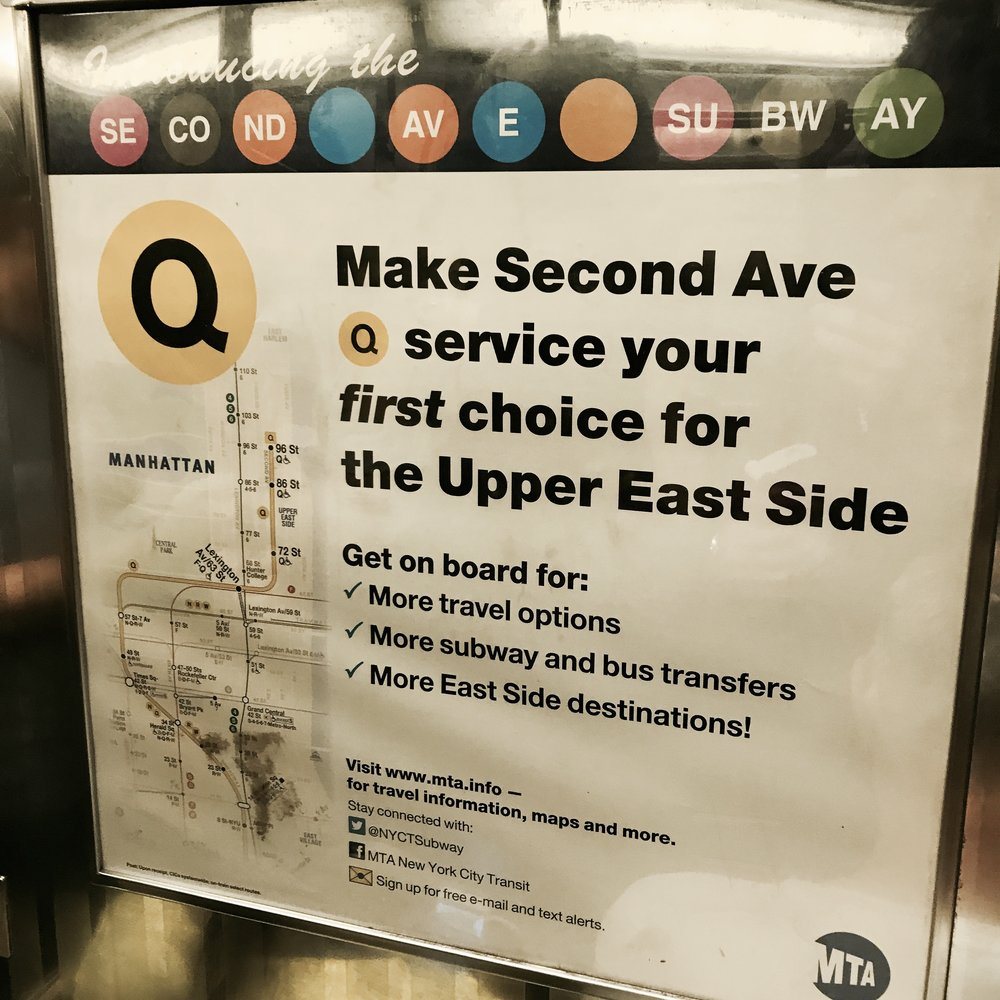 Second Ave/Q Train Promo, Metropolitan Transit Authority