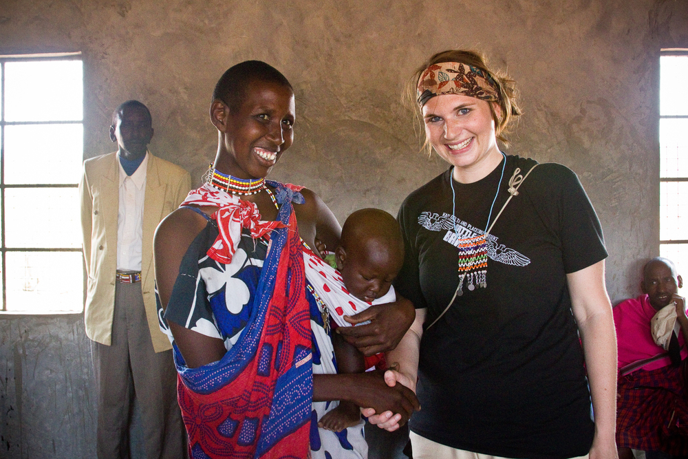 Me with a Masaai mom and her baby in rural Kenya.