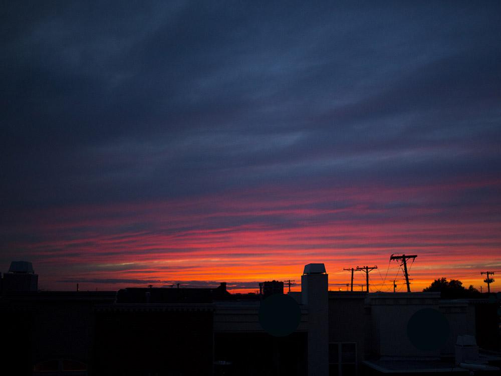{034|365} S T A R T S  W I T H  P. Pretty Pink Sky.