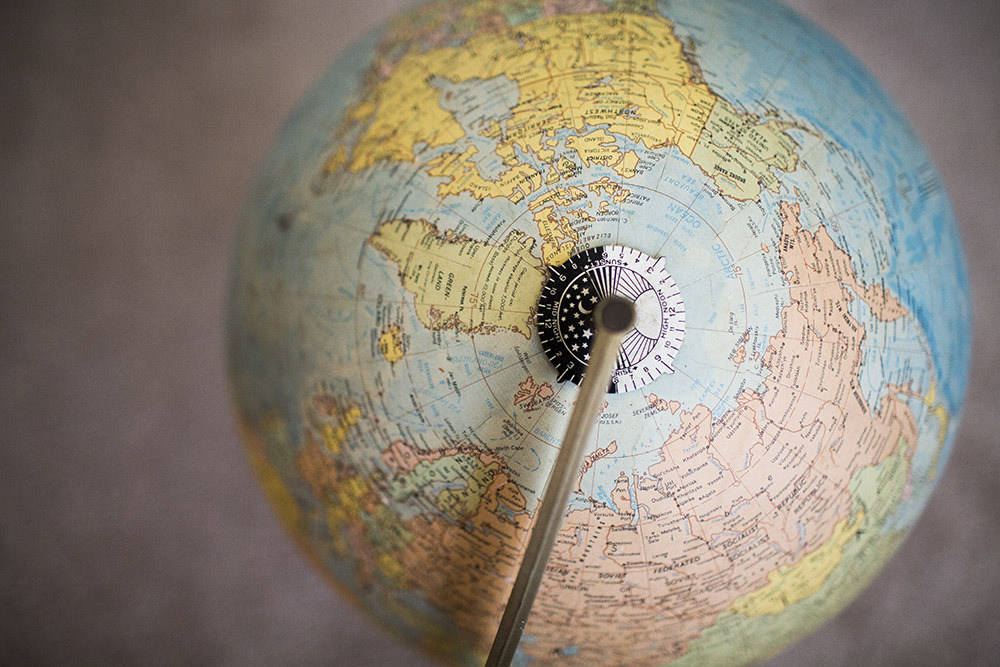 {036|365} O L D    S C H O O L A globe older than me. I love looking at how the country names have changed over the years. South Rhodesia anyone?