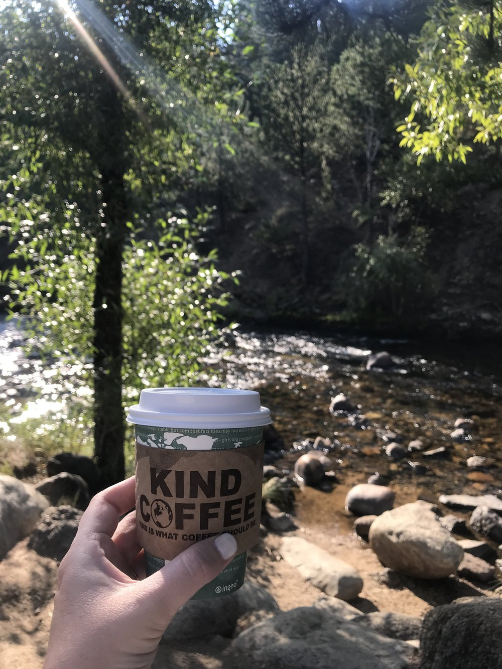 The view behind Kind Coffee