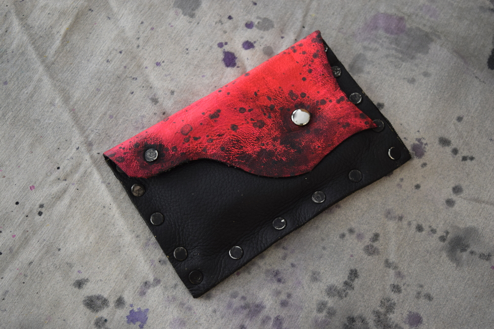 Blacklight Reactive  Painted Leather