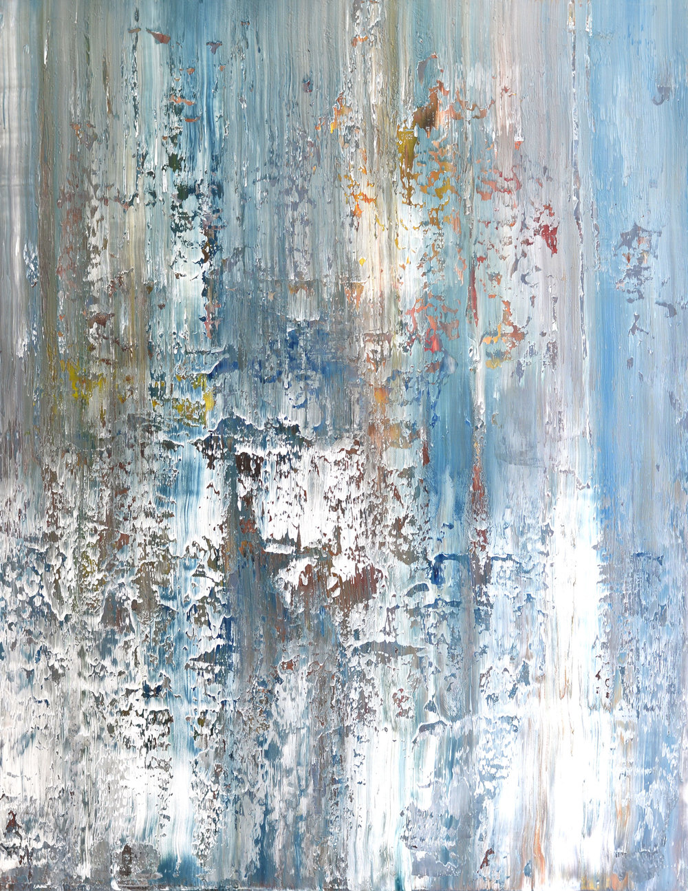 """Here & There"" is an original, abstract oil painting by Los Angeles based artist, Laura Viapiano."