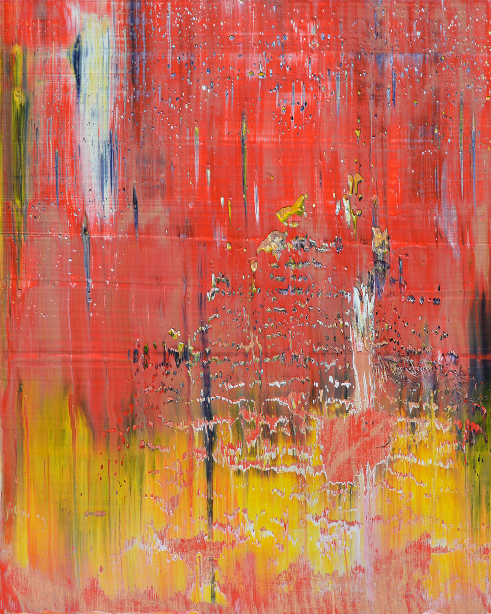 """Close"" is an original, abstract oil painting by Los Angeles based artist, Laura Viapiano."