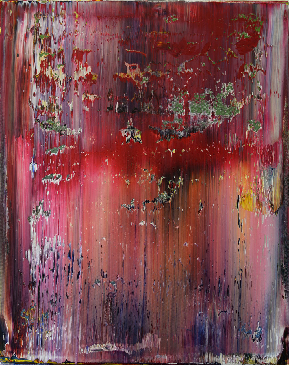 """""""Across the Room"""" is an original, abstract oil painting by Los Angeles artist, Laura Viapiano."""