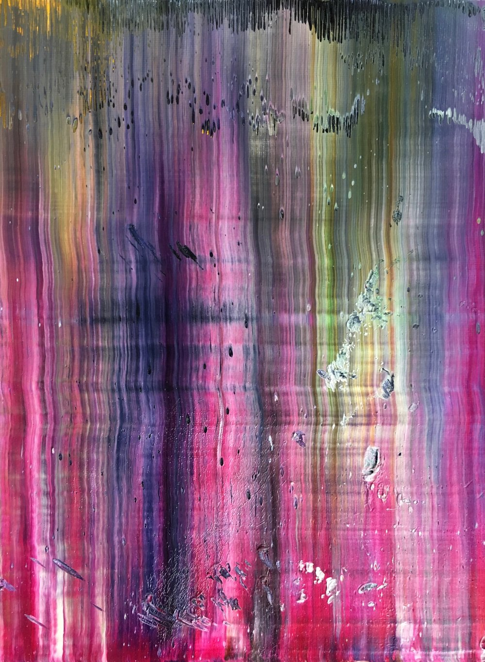 """Candy"" is an original, abstract oil painting created by Los Angeles based artist, Laura Viapiano."