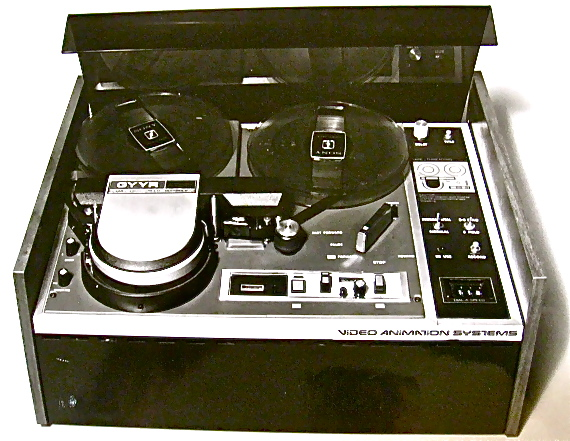 Lyon Lamb Video Animation System- The heart of the VAS, a 1/2 inch reel-to-reel video tape recorder