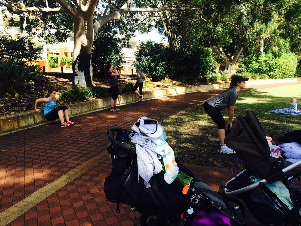 Outdoor Fitness Exercise Class For Mums with Babes and Children