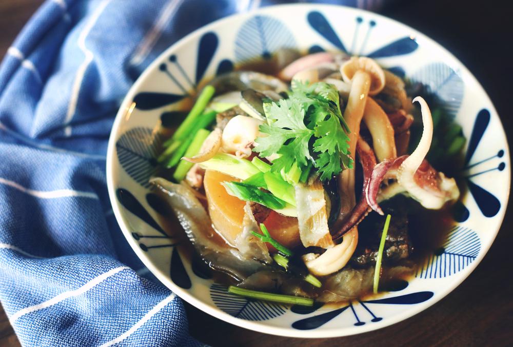 魚皮豆腐大根