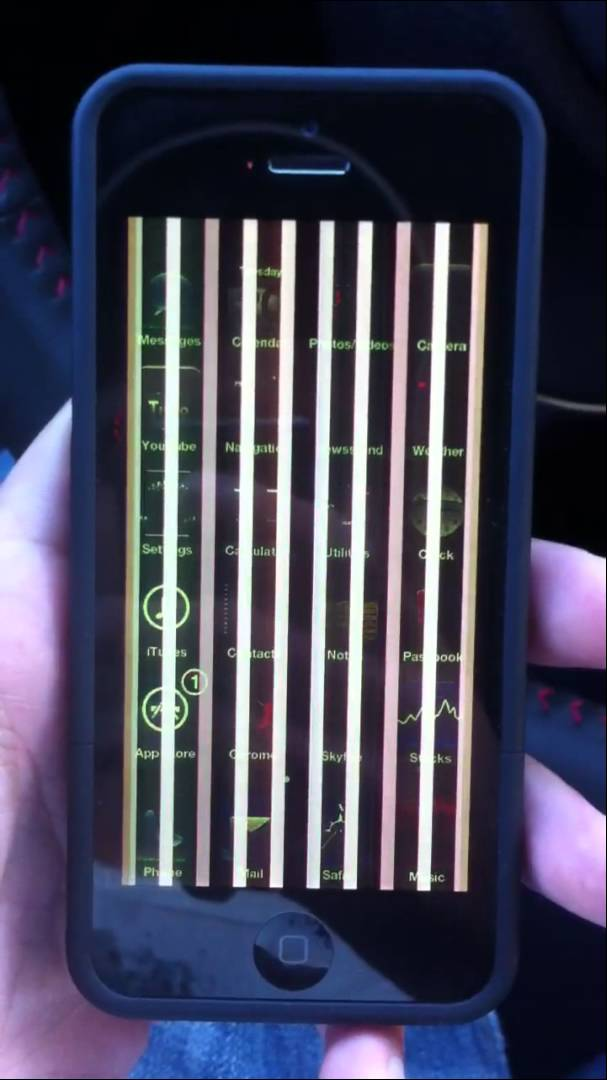 iPhone Screen Vertical Lines