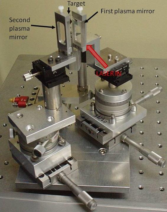 Custom double plasma mirror assembly
