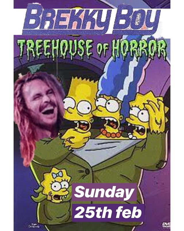 Who's coming to @brekkyboy 's tree house gig on Sunday?! • BYO dins and bevs @snharlor #mmg #treehouse # #RHE #simpsons #brekkyboy