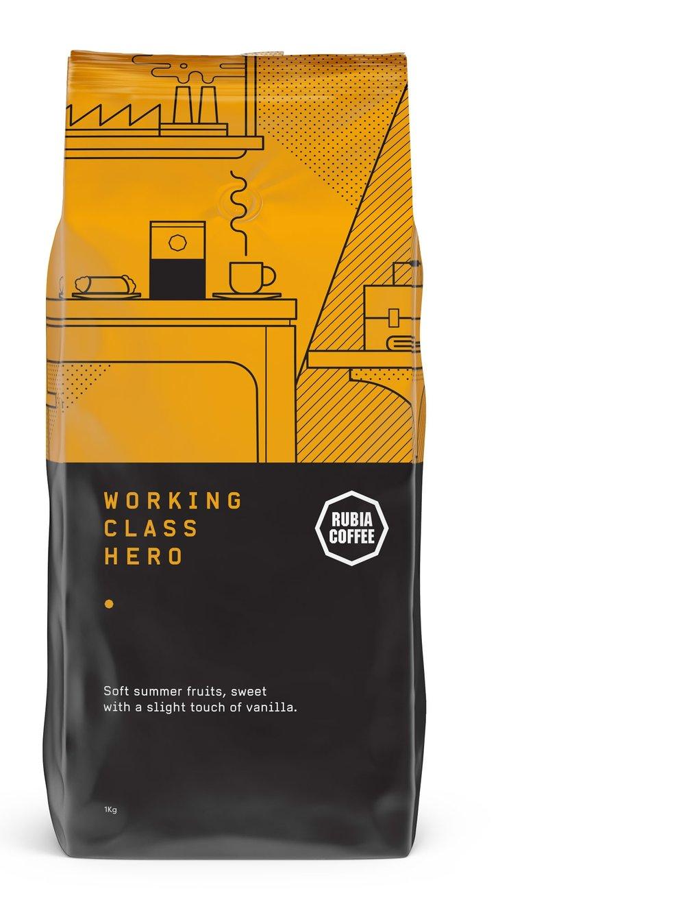 Rubia Coffee Working Class Hero coffee blend