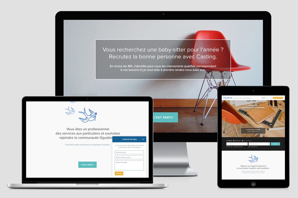 Ogustine - Service web de recherche et de gestion de prestataires à domicile - Sykio