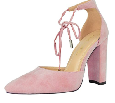 CHASE & CHLOE    D'orsay Pointed Heel