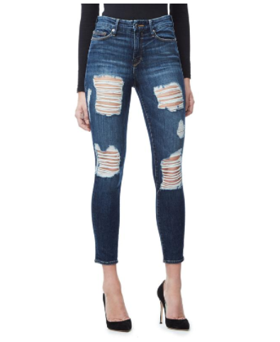 GOOD AMERICAN    GOOD LEGS CROP blue021