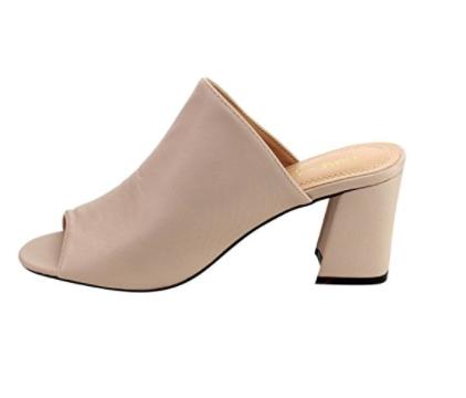 CHASE & CHLOE    Slide Mid-block Heel