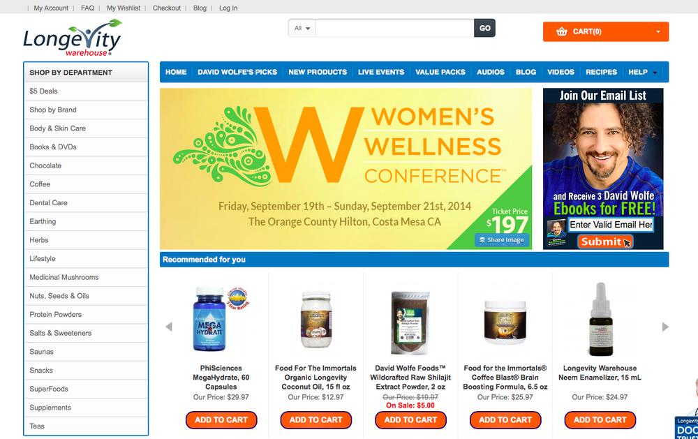 Raw food guru's online store