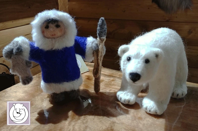 Inuit and Polar Bear, May 2018 at The Cabin/Yellowknife