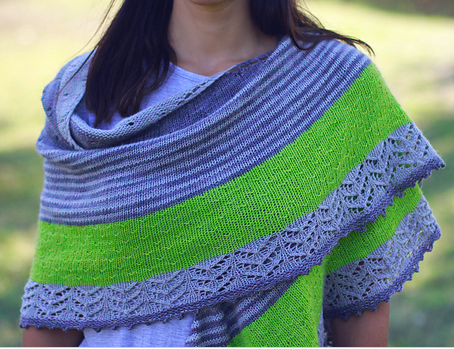 3 Color Cashmere Shawl- October's KAL via our Ravelry Page!