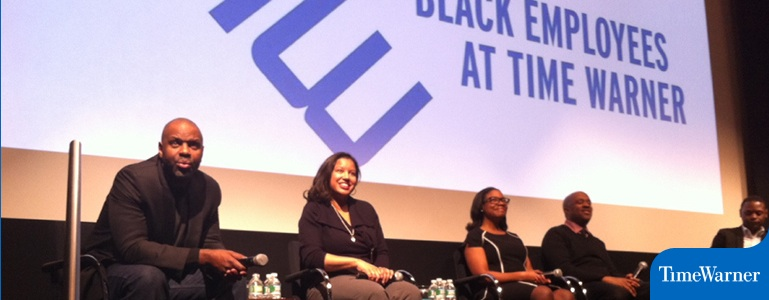 Nicole Franklin and fellow filmmakers at the Reel Sisters of the Diaspora Film Festival-produced Black History Month Panel at Time Warner, NYC.