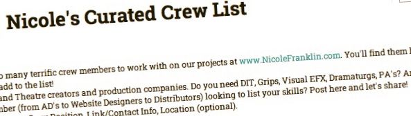 Please click here for my recommended crew.