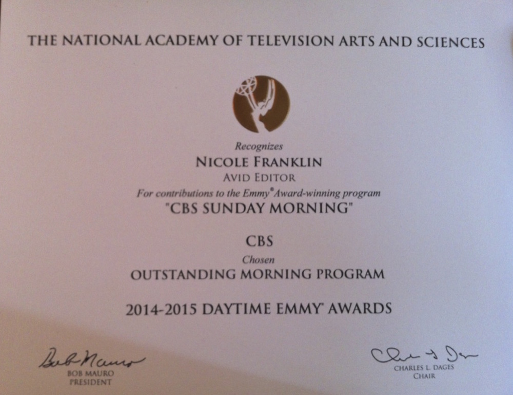 Daytime Emmy CBS Sunday Morning 2015 JPEG.jpg
