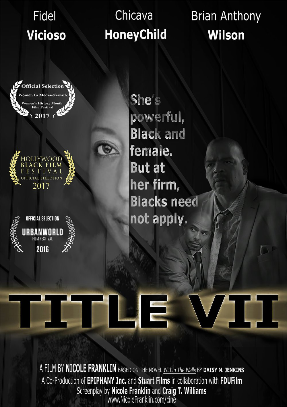 TITLE VII Poster Three Cast and Laurels 031717.jpg