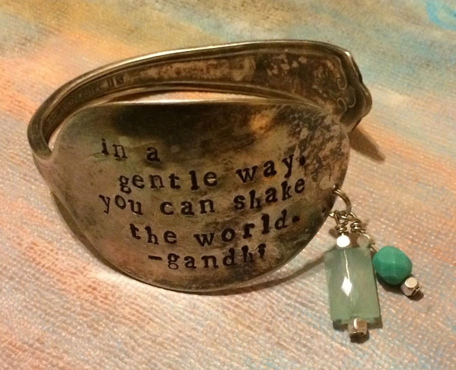 Embody Your Muse - Stephanie Sharp - Gandhi Quote Bracelet