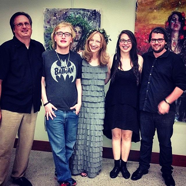 Embody Your Muse - Mollie Kellogg -  (left to right) T.Collins Logan, Petyr Cirino, Mollie Kellogg, Alice Jane Kellogg, Shawn Underwood