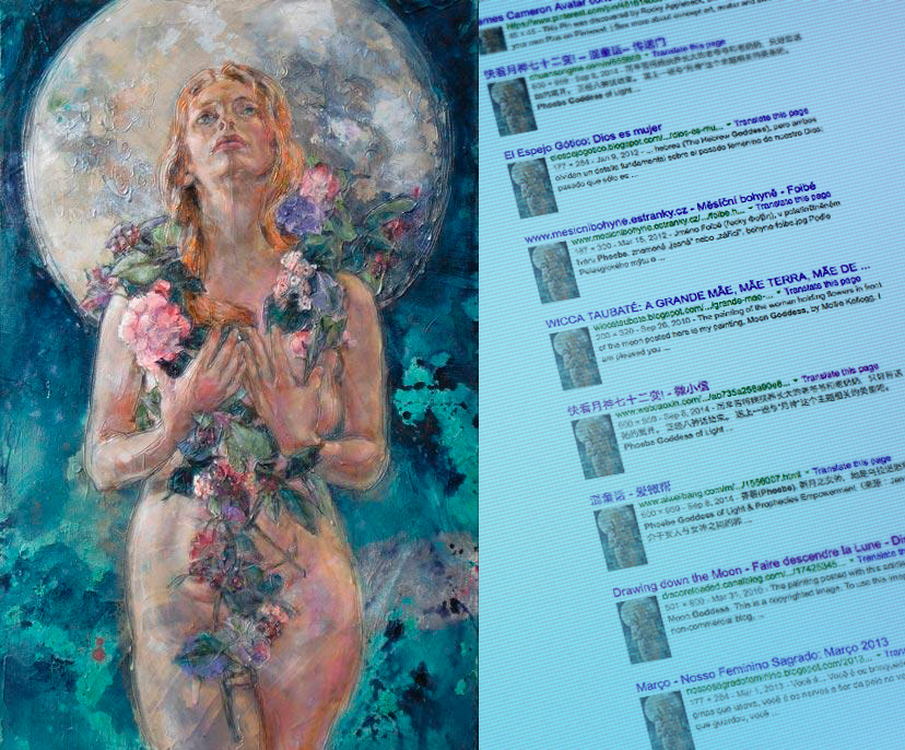 Embody Your Muse - Mollie Kellogg -   Image search for   Moon Goddess   nets nine or so pages of mostly unauthorized results
