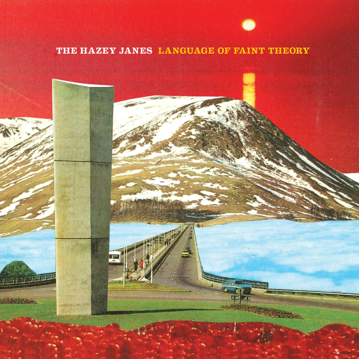 "Artwork to  The Hazey Janes'  forthcoming long-player. Lovely innit. Good work Jesse.   collageartbyjesse :     i'm excited to finally share the art for the hazey janes' new album ""language of faint theory"", made from vintage guidebooks of their home city of dundee, scotland.   here's a preview track along with vinyl/cd/digital preorders:  hazeyjanes.bandcamp.com/album/language-of-faint-theory     society6   tumblr   facebook   twitter"