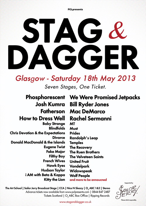 Chris Devotion & The Expections play Stag and Dagger today at 6:20pm in Nice N Sleazys. Glasgow, get on it.