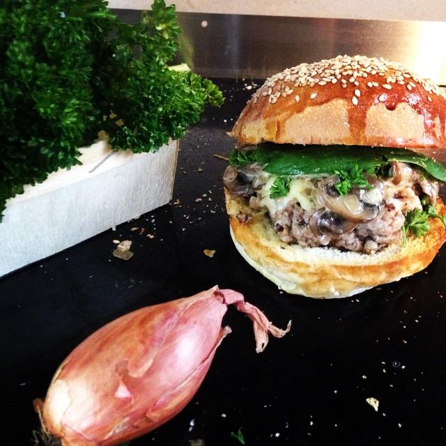 Burger bio champignons