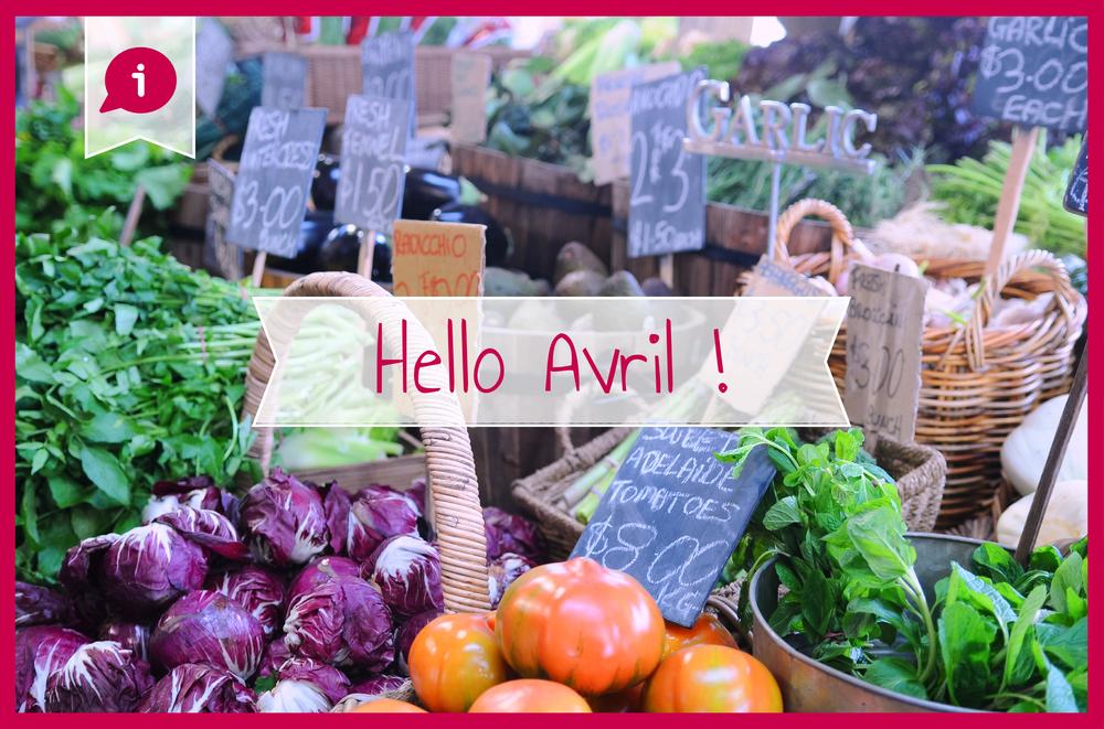 Légumes saison avril