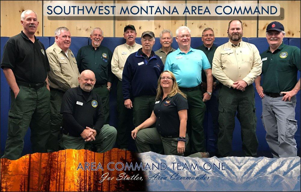 Front: Bruce Wicks (ACAC), Ruth Kohler (RESL) Back: Paul Summerfelt (ACPC), Butch Hayes (ACLC), Elton Thomas (ACPC), Joe Stutler (ACDR), Bob Summfield (PIO1), Mike Lohrey (ACDR-Assistant), John Houk (Logistics Support), Bob Cunningham (ACAC(t)), Joe Freeland (Aviation Support), Jay Ellington (SIT/Intell Support)