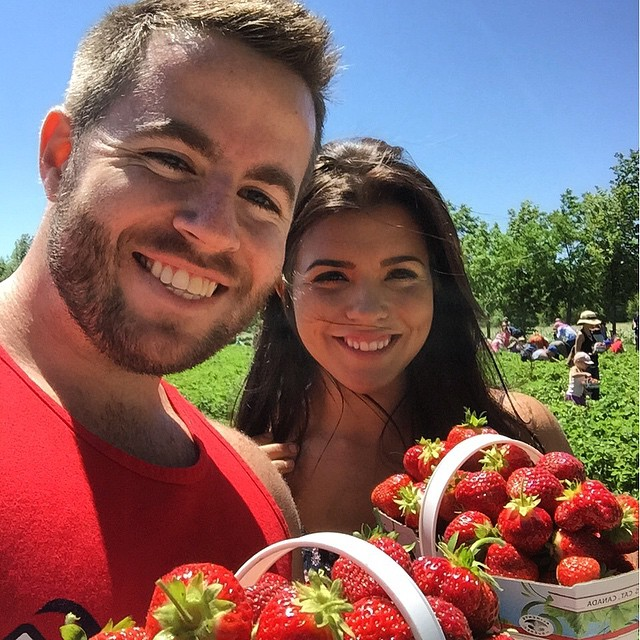 #strawberry picking! So much fun with a ton of strawberries :) farm #strawberry
