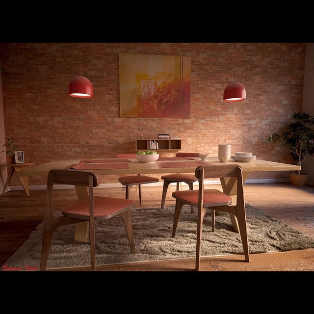 Latest work. Did this in about 12 hours. #InstaSize #art  #vray #maya #fullsail #fullsailuniversity #dream #diningroom #archvis #freelance