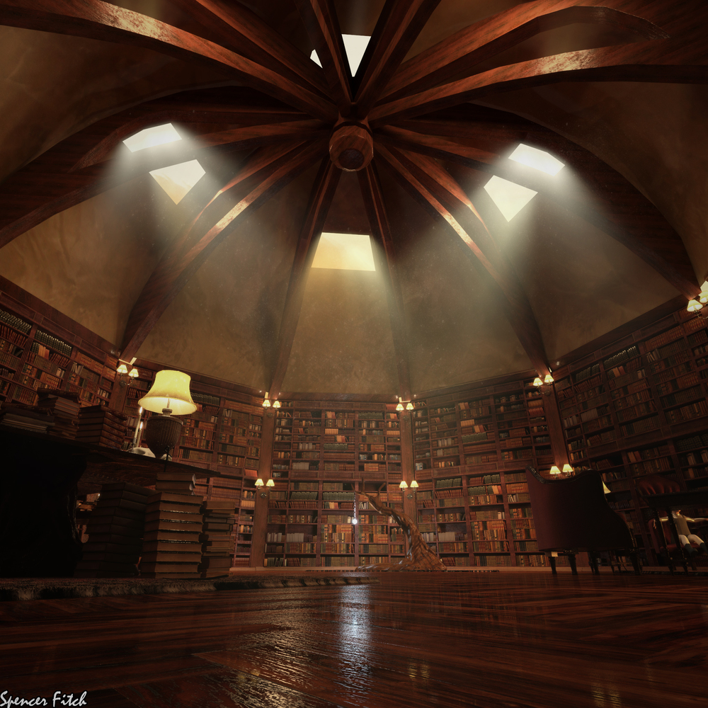 LibraryCeilingFinal.jpg & Solace library u2014 Spencer Fitch | Lighting TD