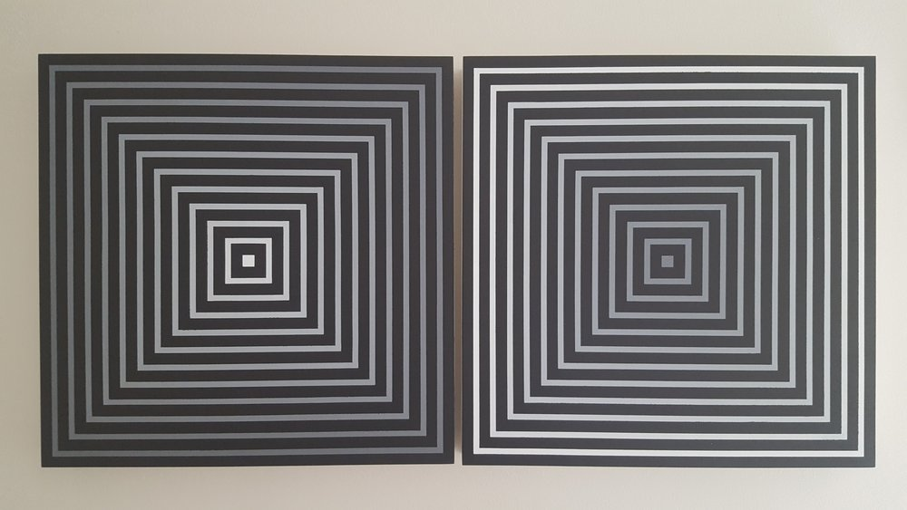 Opposites Attract-1 & 2  Acrylic on Baltic Birch 24x48x2.5""