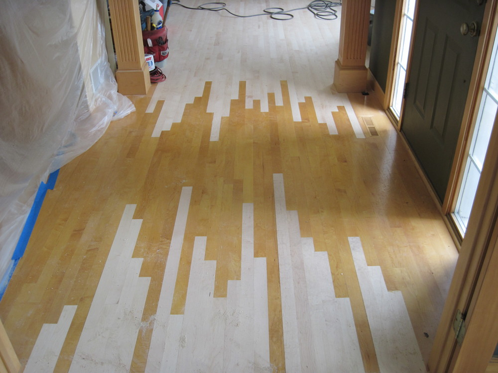 Wood flooring before and afters raven hardwood flooring for Floor to floor