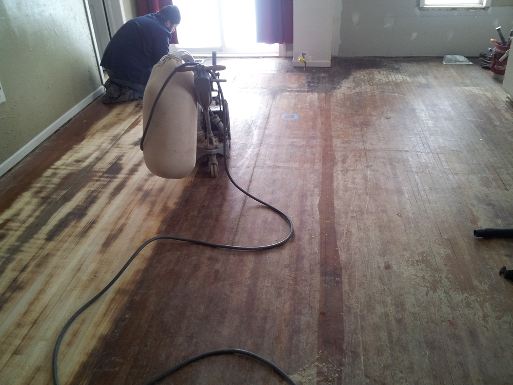 sanding an old farmhouse hardwood floor the process makes quite a difference