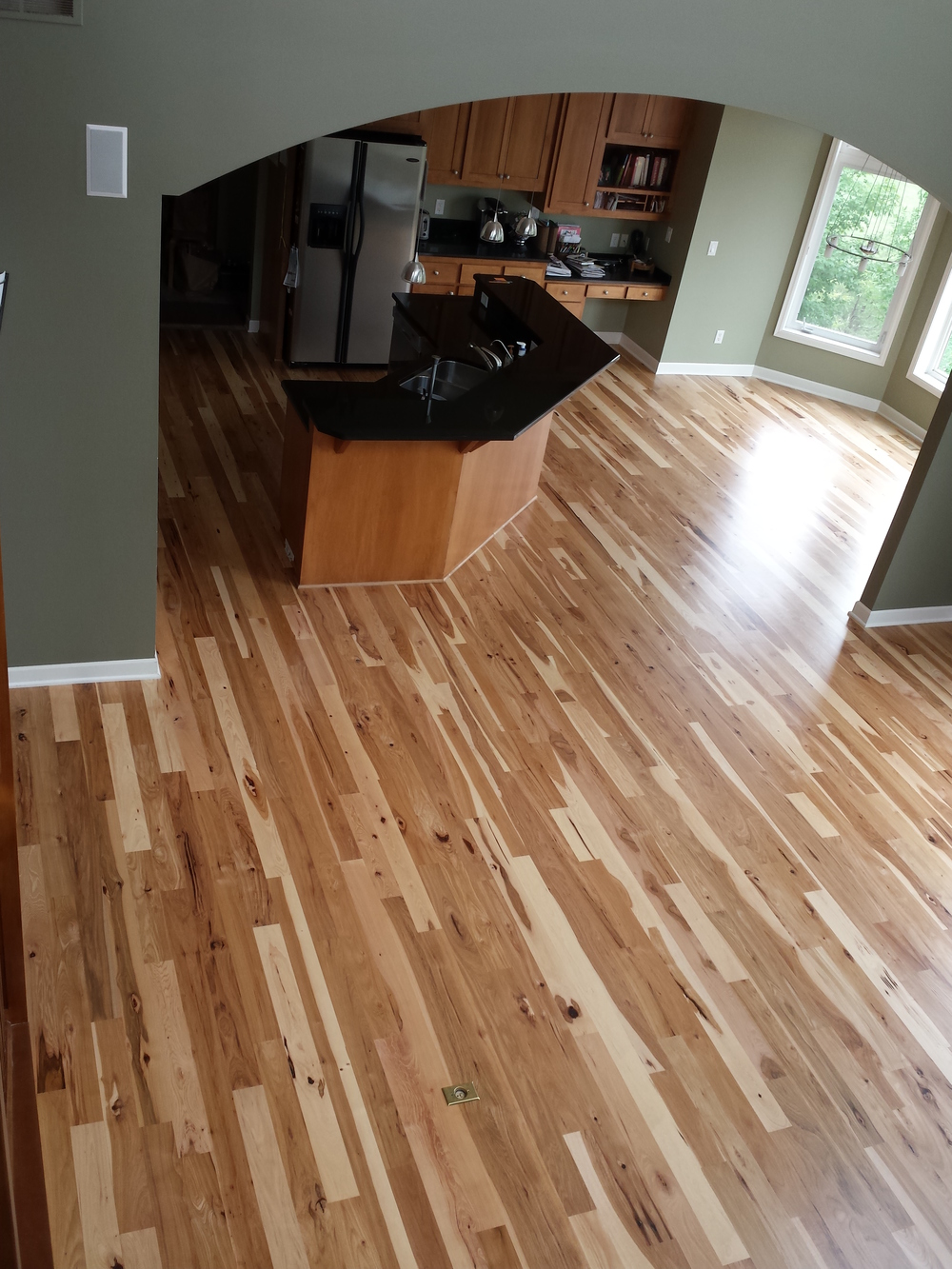 Image gallery hickory flooring for Floor images