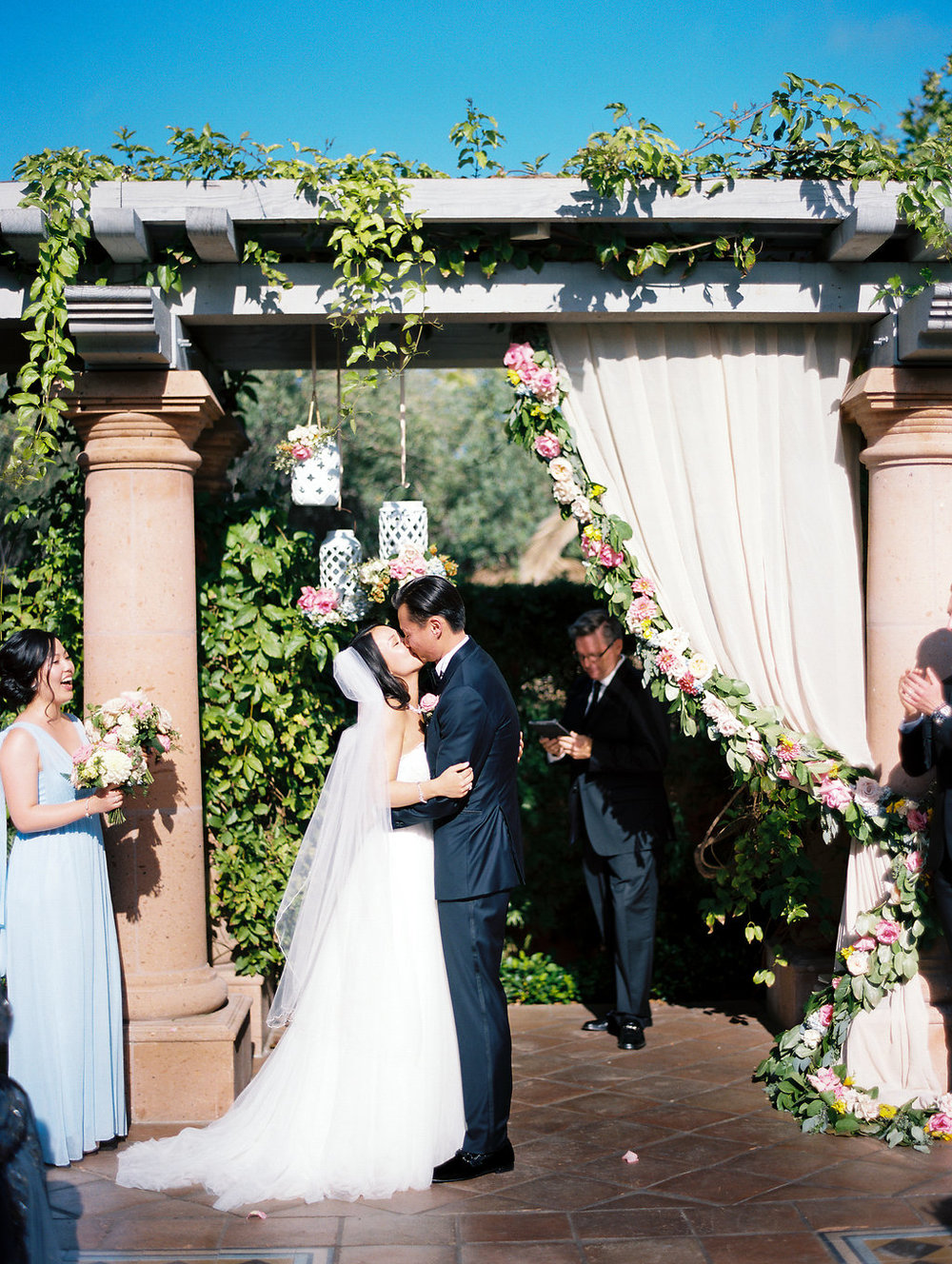 Portia and Charles, Wedding at Rancho Valencia