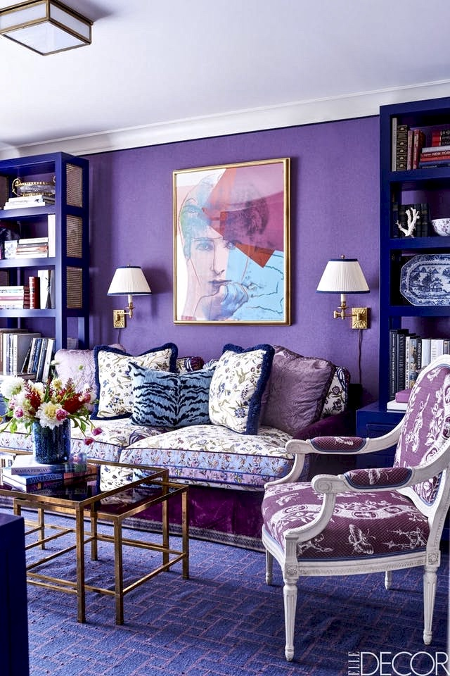 This is quite a regal room. (Photo:  Elle Decor )