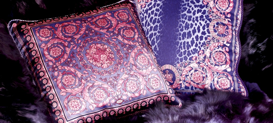 Silk Cushions from Versace. (Photo:  Versace Home )