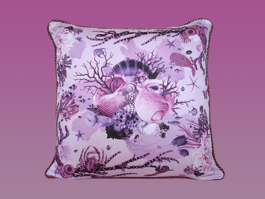 Reef Pillow in Purple