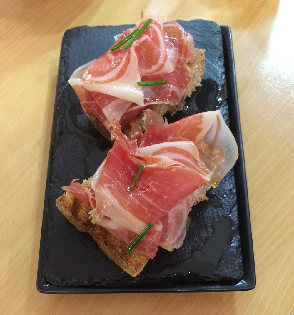 Jamon on toast at Bar Azkena