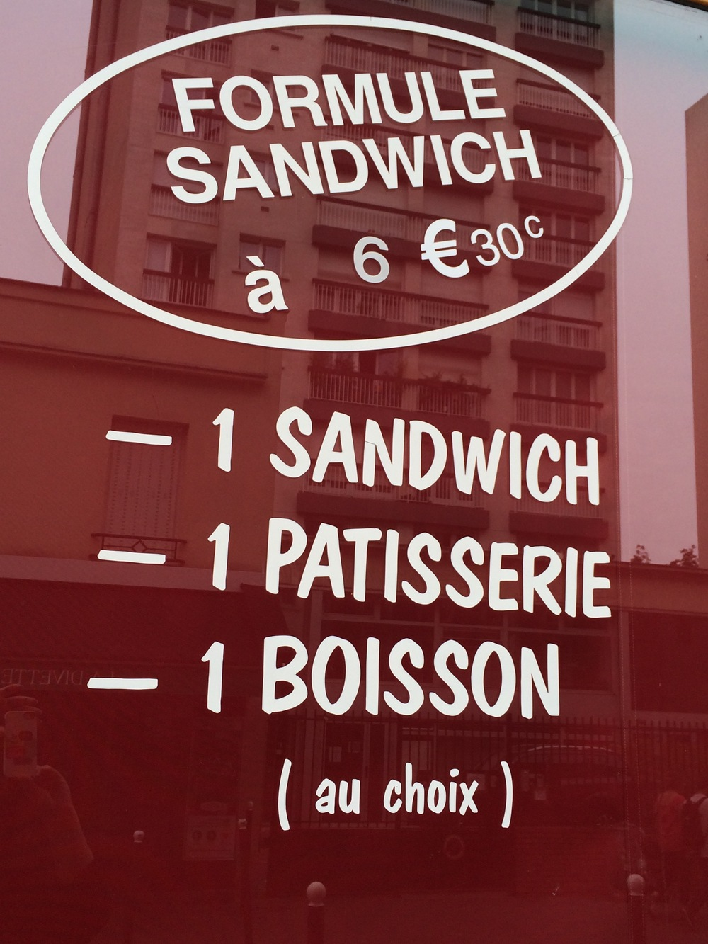 Boulangerie Lunch Special