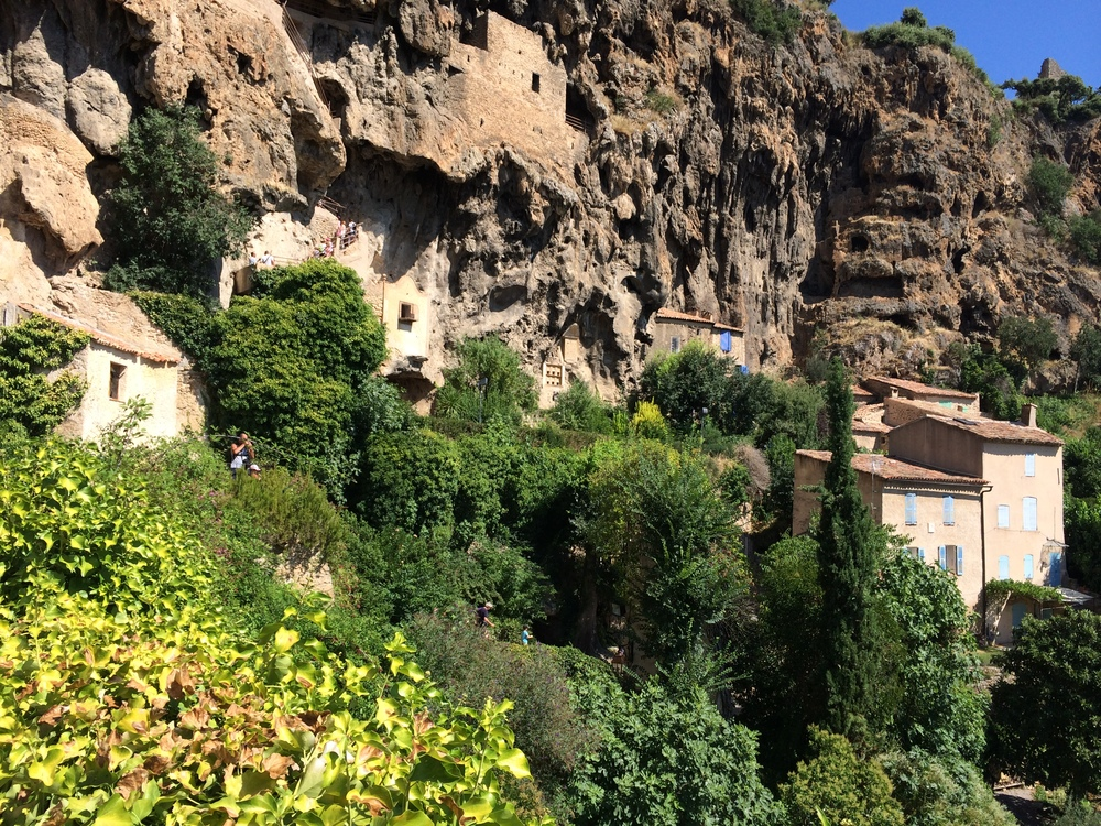 Troglodyte Caves in the Cliffs over Cotignac